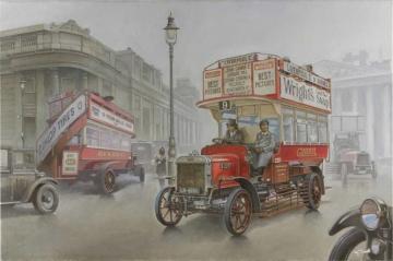 Type B Bus, LGOC, London, Early 1914 · RD 739 ·  Roden · 1:72