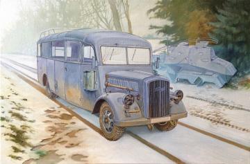 Opel Blitz 3.6-47 Omnibus W39 Ludewig · RD 807 ·  Roden · 1:35