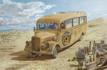 Opel Blitz 3.6-47 Omnibus model W39 Lude Ludewig built, late version · RD 808 ·  Roden · 1:35