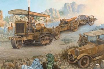 Holt 75 Artillery Tractor w/BL 8-inch Howitzer · RD 814 ·  Roden · 1:35