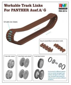 Workable Track Links - Panther A/G · RFM 5014 ·  Rye Field Model · 1:35
