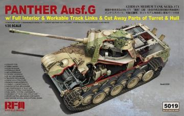 Panther Ausf.G with full interior & cut away parts · RFM 5019 ·  Rye Field Model · 1:35