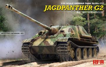 Jagdpanther G2 with full interior & workable track links · RFM 5022 ·  Rye Field Model · 1:35