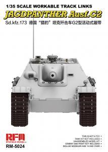 Workable Track Links - Jagdpanther · RFM 5024 ·  Rye Field Model · 1:35