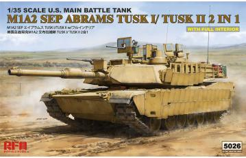 M1A2 Tusk I/ Tusk II w/full Interior · RFM 5026 ·  Rye Field Model · 1:35