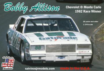 Bobby Allison, Chevrolet,1982 · JR 559214 ·  Salvinos JR Models · 1:24