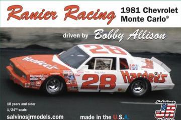 Rainer Racing 1981 Monte Carlo, Bobby Allison · JR 559627 ·  Salvinos JR Models · 1:25