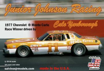 Cale Yarborough #11, Junior Johnson Chevy, 1977 · JR 559750 ·  Salvinos JR Models · 1:25