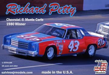 Richard Petty #43, Chevrolet, 1980 · JR 559751 ·  Salvinos JR Models · 1:25