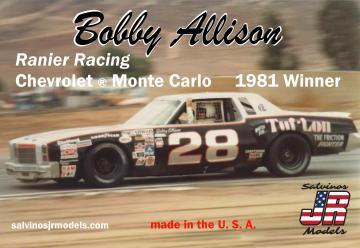 Bobby Allison #28, RanierRacing Chevy, 1981 · JR 559919 ·  Salvinos JR Models · 1:25