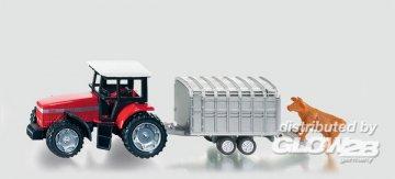 Traktor mit Viehanhänger · SIK 1640 ·  SIKU