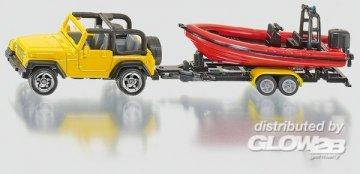 Jeep mit Boot · SIK 1658 ·  SIKU