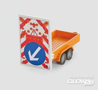 Transporter mit Verkehrssicherungsanhäng · SIK 1660 ·  SIKU