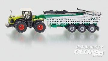 Claas Xerion mit Fasswagen · SIK 1827 ·  SIKU