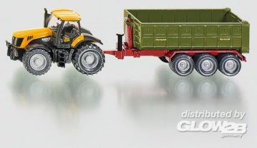 JCB Traktor mit Hakenliftmulde · SIK 1855 ·  SIKU