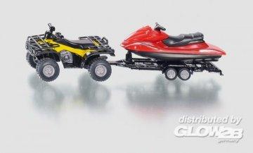 Quad mit Anhänger und Jet Ski · SIK 2314 ·  SIKU