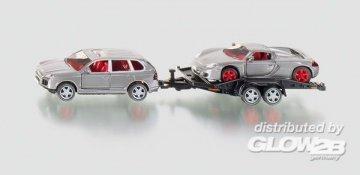 PKW mit Transport-Anhänger · SIK 2544 ·  SIKU