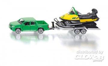 PKW mit Anhänger und Snowmobil · SIK 2548 ·  SIKU