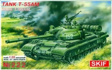 T-55 AM · SF 222 ·  Skif · 1:35