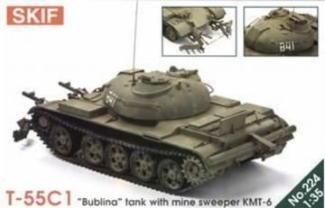 T-55 ´Bublina´ tank with mine sweeper · SF 224 ·  Skif · 1:35