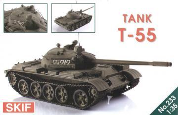 T-55 Soviet tank · SF 233 ·  Skif · 1:35
