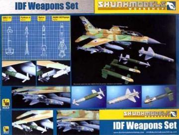 IDF WEAPON SET (Python-4, GBU-15, Popeye, Spice) · SMW 48001 ·  Skunk Models Workshop · 1:48
