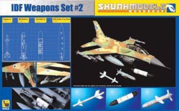 IDF WEAPON SET#2 (600 Gal,AN/AXQ-14, Python 3, Delilah) · SMW 48002 ·  Skunk Models Workshop · 1:48