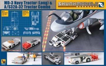 MD-3 Navy Tractor (long) & A/S32A-32 tractor Combo · SMW 48005 ·  Skunk Models Workshop · 1:48