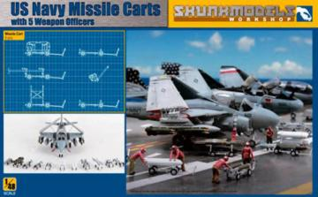 US NAVY Missile Cart with Weapon Officers · SMW 48023 ·  Skunk Models Workshop · 1:48