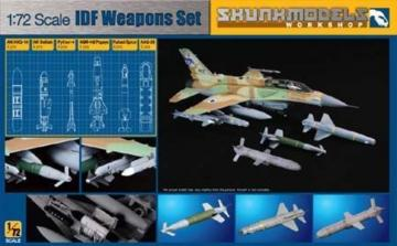 IDF WEAPON SET (AN/AXQ-14, Delilah, Python-4,Popeye etc · SMW 72001 ·  Skunk Models Workshop · 1:72