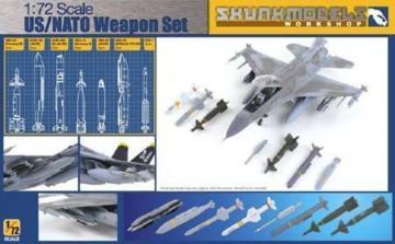 US/NATO Weapons Set (GBU-39, AGM-154, GBU-24 etc.) · SMW 72002 ·  Skunk Models Workshop · 1:72