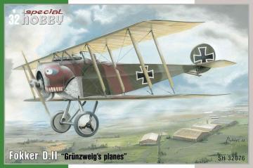 Fokker D.II Grünzweig´s Planes · SH 32076 ·  Special Hobby · 1:32