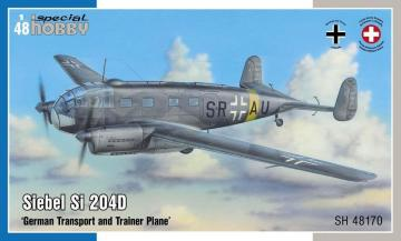 Siebel Si 204D German Transport and Trainer Plane · SH 48170 ·  Special Hobby · 1:48