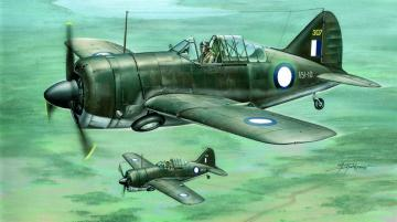 Buffalo model 339-23In RAAF and USAAF colors · SH 72128 ·  Special Hobby · 1:72