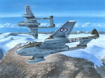 DH Vampire FB MK.52 Over Nortern Sky · SH 72281 ·  Special Hobby · 1:72
