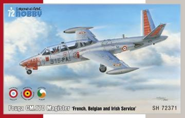 Fouga CM.170 Magister French, Belgian and Irish Service · SH 72371 ·  Special Hobby · 1:72