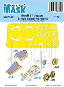 SAAB 37 Viggen Single Seater - Mask · SH M72002 ·  Special Hobby · 1:72