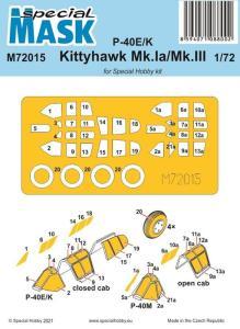 P-40E/K Kittyhawk Mk.Ia/Mk.III - Mask · SH M72015 ·  Special Hobby · 1:72