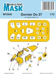 Dornier Do.27 - Mask · SH M72028 ·  Special Hobby · 1:72