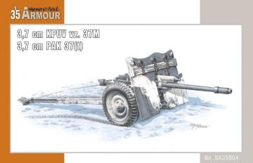 Kanon 3,7cm KPUV vz.37cm Pak M 37 (t) · SH SA35004 ·  Special Hobby · 1:35