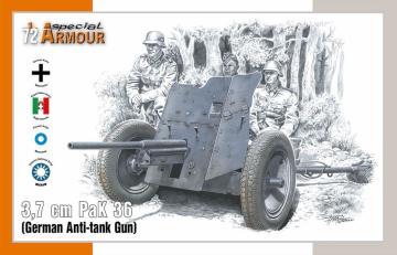 3,7 cm PaK 36 German Anti-tank Gun · SH SA72024 ·  Special Hobby · 1:72