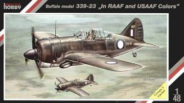 Brewster Buffalo model 339-23 in RAAF and USAAF colors · SH SH48057 ·  Special Hobby · 1:48