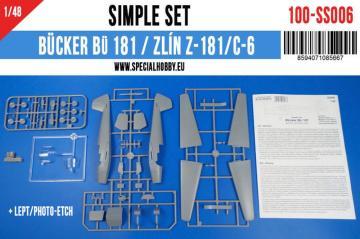 Bücker BÜ 181 /Zlin Z-181 Simple Set · SH SS006 ·  Special Hobby · 1:48