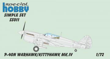 P-40N Warhawk - Simple Set · SH SS011 ·  Special Hobby · 1:72