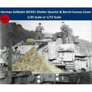 WWII German Zeltbahn M1931 Shelter Quarter & Barrel Canvas Cover Resin Kits · TMO A35001 ·  T-Model · 1:35
