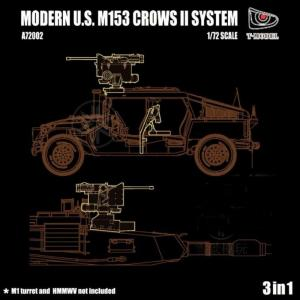 Modern U.S. M153 Crows II System · TMO A72002 ·  T-Model · 1:72