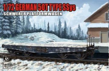 German 50T Type SSys Schwerer Plattformwagen · TMO TK7304 ·  T-Model · 1:72