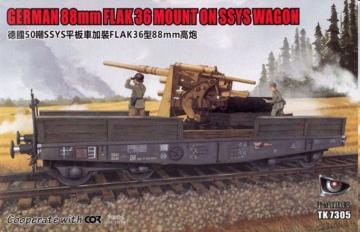 German 88mm FLAK 36 Mount on SSYS Wagon · TMO TK7305 ·  T-Model · 1:72