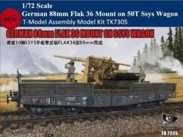 German 88mm FLAK 36 Mount on SSYS Wagon · TMO TK7305E ·  T-Model · 1:72