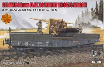 German 88mm FLAK 36 Mount on SSYS Wagon · TMO TK7305G ·  T-Model · 1:72
